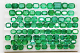 160.8 Ct Fine Natural Emerald Mix Wholesale Parcel Ovals,Octagon & Cushion - RareGem.IN