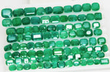 168 Ct Natural Emerald Cushion Parcel Zambia UnTreated Loose GemStone - RareGem.IN - 1