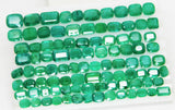 168 Ct Natural Emerald Cushion Parcel Zambia UnTreated Loose GemStone - RareGem.IN - 2