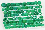 168 Ct Natural Emerald Cushion Parcel Zambia UnTreated Loose GemStone - RareGem.IN - 3