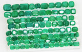 168 Ct Natural Emerald Cushion Parcel Zambia UnTreated Loose GemStone - RareGem.IN - 4