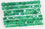 168 Ct Natural Emerald Cushion Parcel Zambia UnTreated Loose GemStone - RareGem.IN - 6