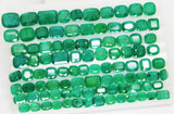 168 Ct Natural Emerald Cushion Parcel Zambia UnTreated Loose GemStone - RareGem.IN - 9