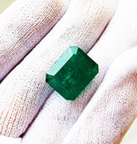 16.85 Ct Fine Natural Emerald Octagon Zambia UnTreated Loose GemStone