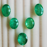 17.20 Ct / 5 Pcs Fine Natural Emerald Oval Russian Necklace UN Treated Loose GemStone