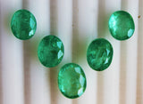 17.59 Ct / 5 Pcs Fine Natural Emerald Oval Russian Necklace UN Treated LooseGem Stone