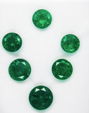 19.05 Ct / 6 Pcs Fine Natural Emerald Round  UnTreated Loose GemStone