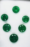 19.05 Ct / 6 Pcs Fine Natural Emerald Round  UnTreated Loose GemStone - RareGem.IN