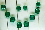 19.06 Ct / 10 Pcs Fine Natural Emerald Cushion Necklace Zambia UN Treated LooseGem Stone