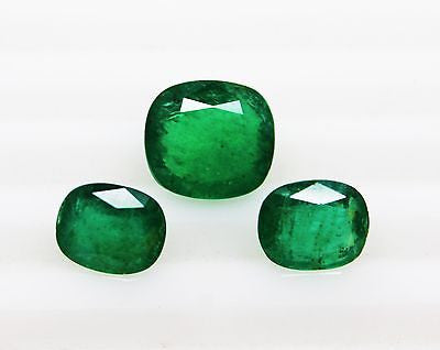 13.05 Ct Fine Natural UnTreated Emerald Cushion for Earrings & Pendent / Ring - RareGem.IN