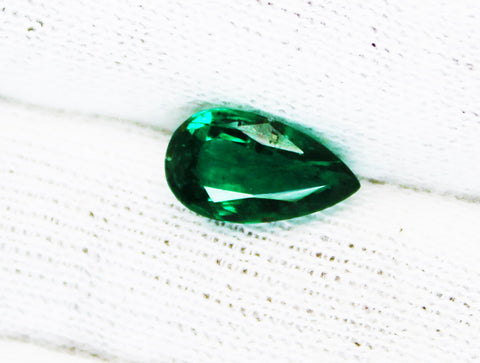 1.61 Ct  Fine Natural Emerald Pear Zambia UnTreated Loose GemStone