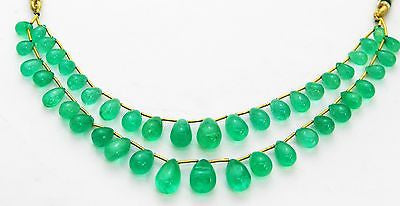 128.72 Ct Fine Natural Emerald Columbian Drops Necklace UnTreated Loose Gemstone - R A R E G E M . I N