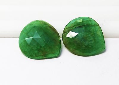 22.15 Ct Fine  Natural Emerald Fancy  UnTreated Loose Gemstone - RareGem.IN