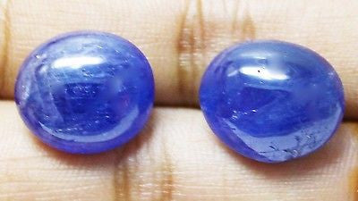 23.24 Ct Rare Unheated Untreated Natural Mokok Blue Sapphire Pair Loose GemStone - RareGem.IN