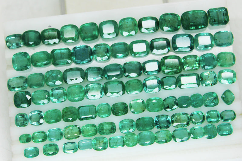 233.88 Ct Natural Emerald Cushion Parcel Zambia UnTreated Loose GemStone - R A R E G E M . I N
