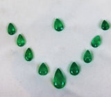 24.17 Ct / 10 Pcs Fine Natural Emerald Pear Necklace Colombia UnTreated LooseGem Stone