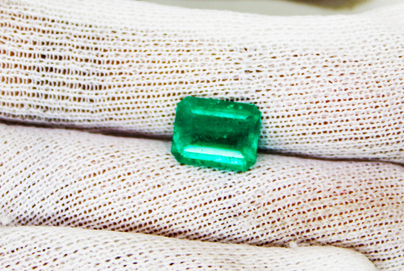 2.43 Ct Fine Natural Emerald  Square Octagon Colombia  Loose GemStone - R A R E G E M . I N