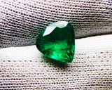 2.85 Ct  Fine Natural Emerald Heart  Zambia UnTreated Loose GemStone