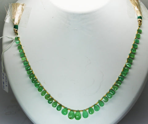 30.23 Ct Fine Natural Emerald Columbian Drops Necklace Un Traeted Loose Gemstone