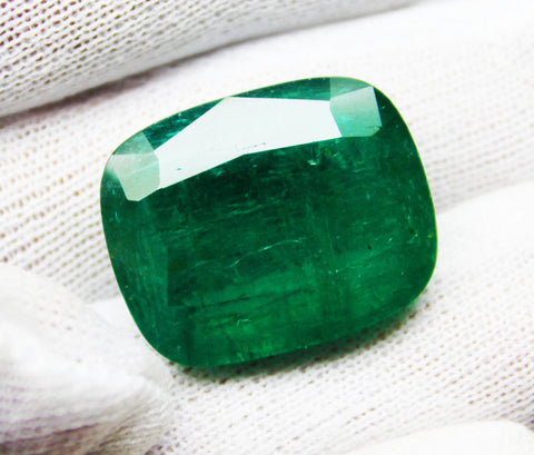 33.41 Ct  Fine Natural Emerald Cushion Zambia UnTreated Loose Gemstone