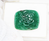 34.50 Ct Fine Natural Emerald Carving  Zambia UnTreated Loose GemStone