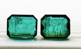 38.76 Ct / 2 Pcs Fine Natural Emerald Octagon Zambia UnTreated Loose GemStone - RareGem.IN