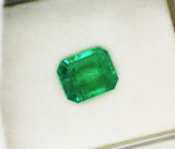 4.13 Ct  Fine Natural Emerald Square Octagon Columbian  UnTreated Loose Gemstone