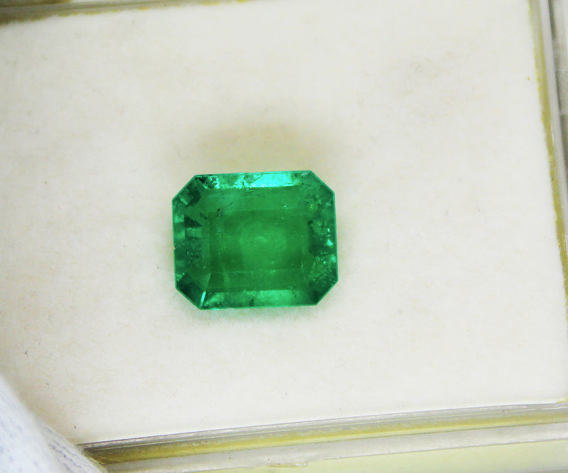 4.13 Ct  Fine Natural Emerald Square Octagon Columbian  UnTreated Loose Gemstone - R A R E G E M . I N