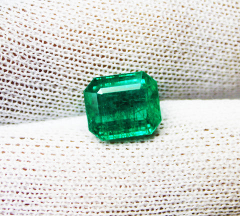 4.29 Ct Fine Natural Emerald  Octagon Zambia UnTreated LooseGem Stone