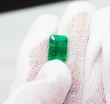 4.34 Fine Natural Emerald Octagon Zambia UnTreated Loose GemStone