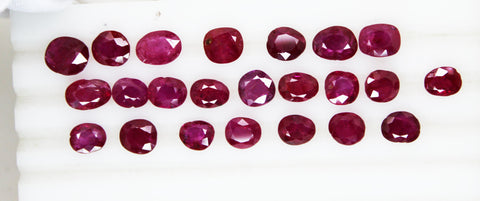 46.94 Cts / 23 Pcs RARE COLLECTION of Fine UnHeated UnTreated Burma Ruby