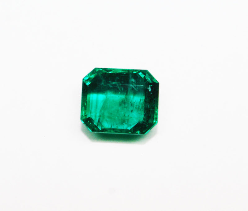 4.87 Ct Fine Natural Emerald Square Octagon Zambia UnTreated Loose GemStone - R A R E G E M . I N