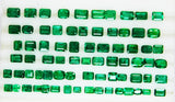 50.77 Ct / 74 Pcs Fine Natural Emerald Mix Zambia Wholesale Parcel LooseGem Stone