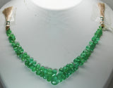 56.25 Ct Fine Natural Emerald Columbian Drops Necklace Un Traeted Loose Gemstone