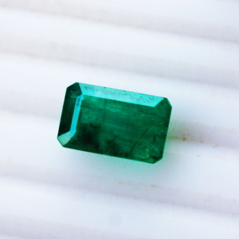 5.62 Fine Natural Emerald Octagon Zambia UnTreated Loose GemStone - R A R E G E M . I N