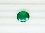 5.82 Fine Natural Emerald Oval Zambia UnTreated Loose GemStone