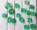 58.44 Ct / 16 Pcs Fine Natural Emerald Mix Russian UN Treated LooseGem Stone