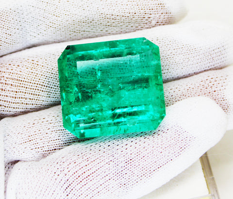 60.02 Ct Fine Natural Emerald Square Octagon Columbian  UnTreated Loose Gemstone