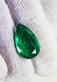 6.28 Ct  Fine Natural Emerald Pear Zambia UnTreated Loose GemStone