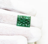 6.08 Ct Fine Natural Emerald Carving  Zambia UnTreated Loose GemStone