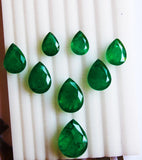 70.45 Ct /8Pcs Fine Natural Emerald Pear Necklace Zambia UnTreated LooseGemStone
