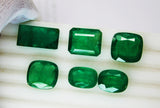 72.66 Ct \ 6 Pcs Fine Natural Emerald MIX Zambia UnTreated Loose GemStone