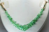 72.70 Ct Fine Natural Emerald Columbian Drops Necklace Un Traeted Loose Gemstone
