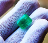 7.72 Fine Natural Emerald Octagon Zambia UnTreated Loose GemStone