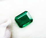 7.74 Ct Fine Natural Emerald Square Octagon  Zambia UnTreated LooseGem Stone