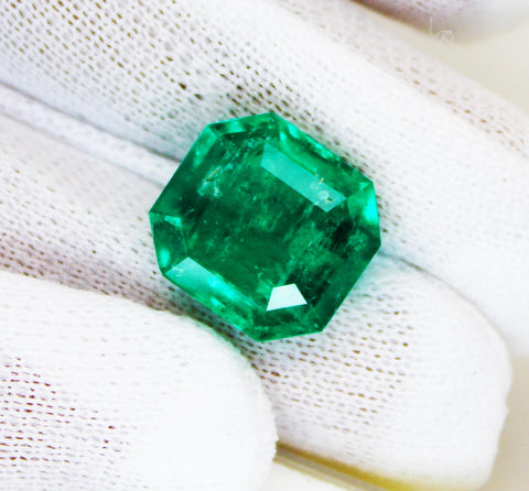 8.14 Ct Fine Natural Emerald Octagon Columbian  UnTreated Loose Gemstone