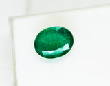 9.67 Ct  Fine Natural Emerald Oval  Zambia UnTreated Loose GemStone