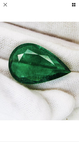 Emerald Pear 21.30 Carats Natural UnTreated - RareGem.IN