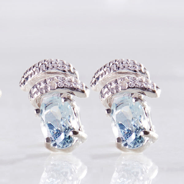Diamond 925 Sterling Silver Earrings RMJ035-2