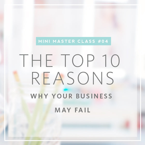 04/2016 Mini Masterclass | The Top 10 Reason Why Your Portrait Photography Businesses May Fail